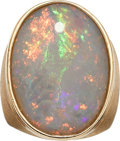 Estate Jewelry:Rings, Gentleman's Opal, Gold Ring. ...
