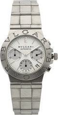 Estate Jewelry:Watches, Bvlgari Gentleman's Stainless Steel Diagono Chronograph Watch. ...