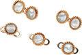 Estate Jewelry:Other, Mother-of-Pearl, Gold Dress Set, Buccellati. ... (Total: 5 Items)