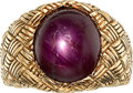 Estate Jewelry:Rings, Gentleman's Star Ruby, Gold Ring. ...