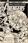 Original Comic Art:Covers, Rich Buckler and Joe Sinnott Avengers #108 Cover Original Art (Marvel, 1973)....