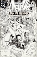 Original Comic Art:Covers, Ron Randall Arak Son of Thunder #30 Original Cover Art (DC,1984)....