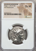 Ancients:Greek, Ancients: SELEUCID KINGDOM. Philip I Philadelphus (95-75 BC). ARtetradrachm. NGC Choice XF....