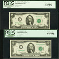 Fr. 1935-I $2 1976 Federal Reserve Note. PCGS Very Choice New 64PPQ; Fr. 1935-I* $2 1976 Federal Reserve Star Note. PCGS...