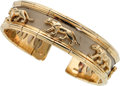 Estate Jewelry:Bracelets, Gold, Stainless Steel Bracelet. ...