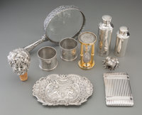 Ten Silver and Silver-Plated Smalls by Tiffany & Co, Buccellati, Christofle, and Galmer, 19th-20th centuries Marks...