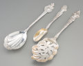 Silver & Vertu:Flatware, Three Gorham, Unger Brothers, and R. Blackinton & Co. Silver Serving Pieces, late 19th-early 20th century. Marks: (various)... (Total: 3 Items)