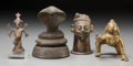 Asian, Four Southeast Asian Bronze Figures. 5-1/4 inches high (13.3 cm) (tallest). PROPERTY FROM THE ESTATE OF ADELINE NEWMAN, BE... (Total: 4 Items)