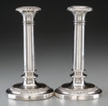 Silver & Vertu:Hollowware, A Pair of Matthew Boulton George III Old Sheffield-Plate Candlesticks, Birmingham, England, late 18th century. Marks: (two s... (Total: 2 Items)