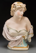 Ceramics & Porcelain, A Copeland Tinted Parian Female Bust Modeled by Owen Hale: Summer, Staffordshire, England, circa 1886. Marks: COPE...