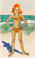 Fine Art - Work on Paper:Print, Alice Neel (American, 1900-1984). Olivia and the Red Hat,1982. Lithograph in colors. 38-1/4 x 22-3/4 inches (97.2 x 57....
