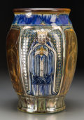 Ceramics & Porcelain, British:Modern  (1900 1949)  , A Pilkington Pottery Iridescent Glazed Vase Decorated by RichardJoyce, Clifton, Greater Manchester, England, early 20th cen...