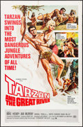 """Movie Posters:Adventure, Tarzan and the Great River & Other Lot (Paramount, 1967). OneSheets (2) (27"""" X 41""""). Adventure.. ... (Total: 2 Items)"""