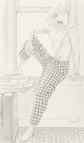 Fine Art - Work on Paper:Drawing, Robert Schultz (American, b. 1953). Performer 3, 1987.Pencil on paper. 15-3/4 x 9-1/4 inches (40 x 23.5 cm) (sight).Si...