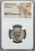 Ancients:Roman Provincial , Ancients: SYRIA. Antioch. Elagabalus (AD 218-222). BI tetradrachm.NGC XF....