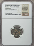 Ancients:Judaea, Ancients: JUDAEA. Roman Procurators. Pontius Pilate (AD 26-36). Æprutah. NGC ungraded (Fine)....