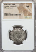 Ancients:Roman Provincial , Ancients: PHOENICIA. Tyre. Caracalla (AD 198-217). AR tetradrachm.NGC VF....