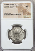Ancients:Roman Provincial , Ancients: SYRIA. Antioch. Caracalla (AD 198-217). BI tetradrachm.NGC XF....
