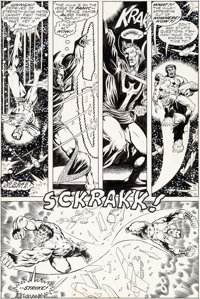 Jim Starlin and Al Milgrom Giant-Size Defenders #1 Story Page 32 Original Art (Marvel, 1974)