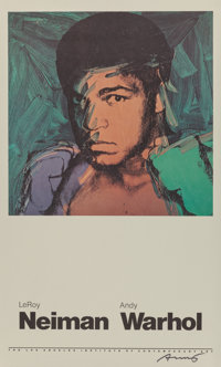 After Andy Warhol (American, 1928-1987) Muhammad Ali, 1978 Offset lithograph in colors 35 x 25-1/