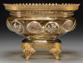 Art Glass:Other , A Moser Enameled Glass and Gilt Bronze-Mounted Centerpiece, late19th century. 9 h x 12-3/4 w x 9-1/4 d inches (22.9 x 32.4 ...