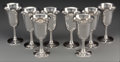 Silver Holloware, American:Cups, Eight Wallace Silver Water Goblets, Wallingford, Connecticut, 20thcentury. Marks: WALLACE, STERLING, 14. 6-3/4 inches h...(Total: 8 Items)