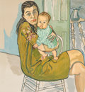 Fine Art - Work on Paper:Print, Alice Neel (American, 1900-1984). Mother and Child (Nancy andOlivia), 1982. Lithograph in colors. 26 x 24 inches (66.0 ...