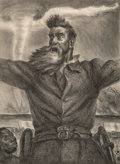 Fine Art - Work on Paper:Print, John Steuart Curry (American, 1897-1946). John Brown, 1939.Lithograph. 14-3/4 x 10-3/4 inches (37.5 x 27.3 cm) (image)...