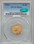 Indian Quarter Eagles, 1910 $2 1/2 MS64 PCGS. CAC....