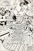 Original Comic Art:Splash Pages, Don Heck and Romeo Tanghal Justice League of America #207 Splash Page 1 Original Art (DC, 1982)....