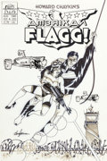 Original Comic Art:Covers, Howard Chaykin Howard Chaykin's American Flagg! #4 Cover Original Art (First, 1988)....