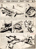 Original Comic Art:Panel Pages, Russ Heath Showcase #27 Story Page 7 Sea Devils Original Art(DC, 1960)....