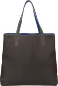 Luxury Accessories:Bags, Hermes Graphite & Blue Electric Clemence Leather Double Sens GMReversible Tote Bag. P Square, 2012. Excellent toPris...