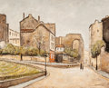Fine Art - Painting, European:Contemporary   (1950 to present)  , Louis Peyrat (French, 1911-2001). Rue s'Vincent Les Vignes.Oil on canvas. 24 x 30 inches (61.0 x 76.2 cm). Signed lower...
