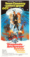 "Movie Posters:James Bond, Diamonds are Forever (United Artists, 1971). International Three Sheet (41"" X 77""). James Bond.. ..."
