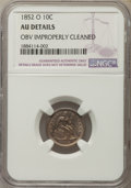 Seated Dimes, 1852-O 10C -- Obverse Improperly Cleaned -- NGC Details. AU. NGC Census: (0/43). PCGS Population: (5/29). CDN: $450 Whsle. ...