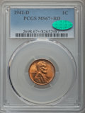 Lincoln Cents, 1941-D 1C MS67+ Red PCGS. CAC....
