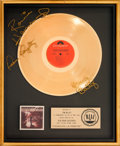 Music Memorabilia:Autographs and Signed Items, Atlanta Rhythm Section Signed A Rock and Roll Alternative RIAA Gold Record Sales Award (Polydor PD-1-6080, 1976)....
