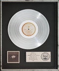 Music Memorabilia:Awards, [James Taylor] FM Motion Picture Soundtrack RIAA PlatinumSales Award (MCA MCA2-12000, 1978)....