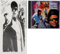 Music Memorabilia:Autographs and Signed Items, NWA Signed 100 Miles and Runnin' CD EP (Ruthless CDS7224, 1990)....