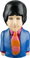 Music Memorabilia:Memorabilia, Beatles Paul McCartney Yellow Submarine Coin Bank (King Features/ Pride Creations, 1968)....