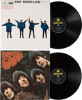 Music Memorabilia:Memorabilia, Beatles - Help and Rubber Soul UK LP Group Late 60's Issues(Parlophone, 1965). ...