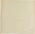 "Music Memorabilia:Memorabilia, The Beatles (""The White Album"") Numbered 0537185 Top-LoadOriginal UK Issue Stereo LP (UK - Apple PCS 7068, 1968)...."