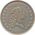 Early Half Dollars, 1795 50C 2 Leaves, O-110a, T-21, R.3, VF35 PCGS....