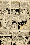 Original Comic Art:Panel Pages, Dick Ayers The Human Torch #36 Story Page 4 Original Art(Atlas/Marvel, 1954)....