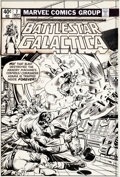 Original Comic Art:Covers, Rich Buckler and Klaus Janson Battlestar Galactica #7 ApolloCover Original Art (Marvel, 1979)....
