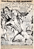Original Comic Art:Splash Pages, John Buscema and Frank Giacoia Sub-Mariner #2 Splash Page 1Original Art (Marvel, 1968). ...