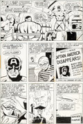 Original Comic Art:Panel Pages, Sal Buscema and Frank McLaughlin Captain America #155 Page11 Original Art (Marvel, 1972)....