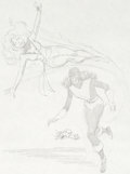 Original Comic Art:Sketches, John Byrne Phoenix and Kitty Pryde Sketch (1980)....