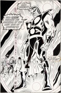 Original Comic Art:Splash Pages, Bob Hall Avengers #301 Splash Page 27 Original Art (Marvel,1989)....